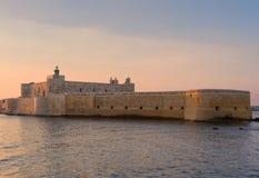 堡垒马尼亚切在西勒鸠斯西西里岛 免版税库存图片