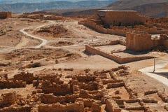 堡垒马萨达废墟  免版税图库摄影