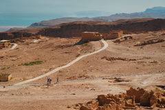 堡垒马萨达废墟  图库摄影