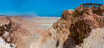 堡垒马萨达,以色列废墟  晴朗的日 库存图片