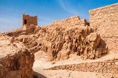 堡垒马萨达,以色列废墟  晴朗的日 库存照片