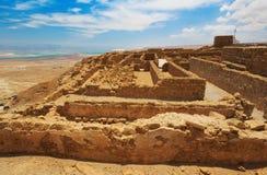 堡垒马萨达,以色列 库存照片