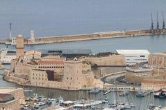 堡垒马赛圣徒吉恩,地中海,法国 免版税库存图片