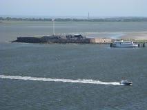 堡垒驮兽查尔斯顿港口2,查尔斯顿南卡罗来纳 库存图片