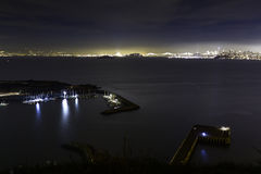 从堡垒贝克的旧金山湾 免版税库存图片