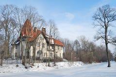 堡垒冻结的neva保罗・彼得・彼得斯堡多雪的st冬天 库存图片