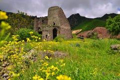 堡垒Akhtala修道院在亚美尼亚 库存照片