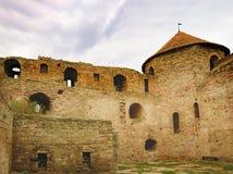 堡垒Akkerman墙壁和窗口在乌克兰 免版税图库摄影