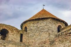 堡垒Akkerman, Bilhorod-Dnistrovskyi,乌克兰墙壁  免版税库存照片