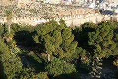 堡垒Alcazaba 库存照片