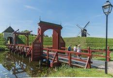 堡垒Bourtange在荷兰 免版税库存照片