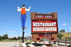 堡垒Cody牛仔标志 图库摄影