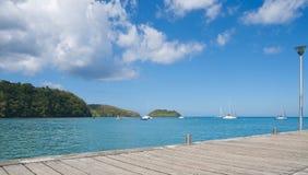 堡垒de法国海湾-热带海岛-加勒比海马提尼克岛 库存照片