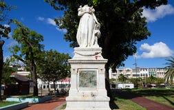 堡垒de法国,马提尼克岛- 2013年2月08日:女皇约瑟芬的被杀头的雕象 库存照片