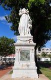 堡垒de法国,马提尼克岛- 2013年2月08日:女皇约瑟芬的被杀头的雕象 免版税库存图片