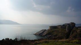 堡垒Dunree博物馆和港湾Swilly,多尼戈尔郡,爱尔兰 库存图片