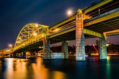 堡垒Duquesne桥梁 库存照片