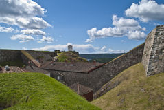 堡垒halden (东部悬墙) 库存照片