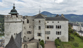 堡垒Hohensalzburg在萨尔茨堡,奥地利 图库摄影