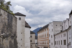 堡垒Hohensalzburg在萨尔茨堡,奥地利 库存照片
