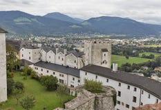 堡垒Hohensalzburg在萨尔茨堡,奥地利 免版税库存照片