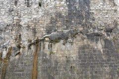 堡垒Hohensalzburg墙壁在萨尔茨堡,奥地利 免版税库存图片