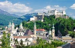 堡垒hohensalzburg 图库摄影