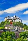 堡垒hohensalzburg 库存图片