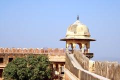 堡垒jaigarh斋浦尔塔手表 免版税库存照片