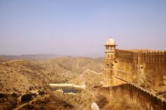 堡垒jaigarh斋浦尔 库存图片
