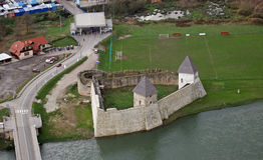 堡垒Kastel是一座城堡在科斯塔伊尼察,一个镇在中央克罗地亚 免版税库存图片