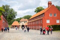 堡垒Kastellet在哥本哈根,丹麦 免版税库存照片