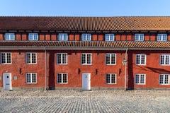 堡垒Kastellet在哥本哈根,丹麦 免版税图库摄影