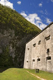 堡垒Kluze 1882 -斯洛文尼亚(奥地利堡垒) 免版税库存照片