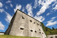 堡垒Kluze 1882 -斯洛文尼亚(奥地利堡垒) 库存图片