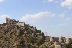 堡垒kumbhalgarh 库存图片
