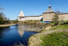 堡垒ladoga中世纪staraya 俄国 免版税库存图片