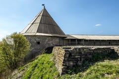 堡垒ladoga中世纪staraya 俄国 免版税库存照片
