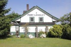 堡垒Langley历史的火车站 库存图片