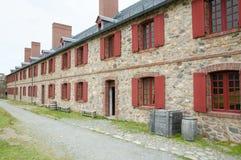 堡垒Louisbourg -新斯科舍-加拿大 免版税库存图片