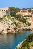 堡垒Lovrijenac和城堡 杜布罗夫尼克市 克罗地亚 库存照片