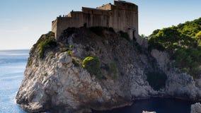 堡垒Lovrijenac是射击集合的王位比赛在杜布罗夫尼克 库存图片