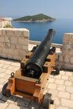 从堡垒Lovrijenac的看法 杜布罗夫尼克市 克罗地亚 免版税库存照片