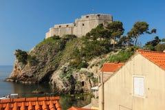 堡垒Lovrijenac 杜布罗夫尼克市 克罗地亚 库存照片