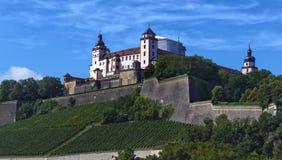 堡垒Marienberg -维尔茨堡-德国 库存图片