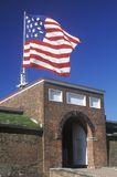 堡垒McHenry国家历史文物在巴尔的摩, MD 免版税库存照片