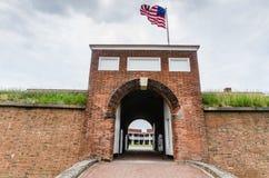 堡垒McHenry -巴尔的摩, MD 库存照片