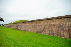 堡垒Moultrie在查尔斯顿,南卡罗来纳 免版税库存照片
