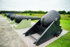 堡垒Moultrie大炮在查尔斯顿,南卡罗来纳 免版税库存图片