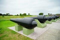 堡垒Moultrie大炮在查尔斯顿,南卡罗来纳 库存照片